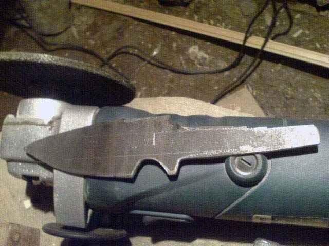 Самодельный нож из пилы по металлу
