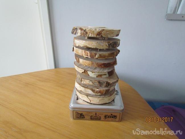 Оригинальный  ночник из дерева