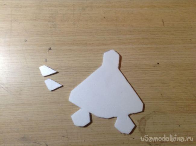 Как сделать модель самолёта из потолочного пенопласта