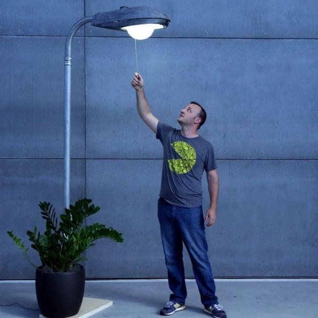 Светильник в виде уличного фонаря