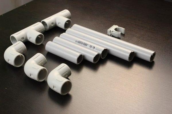 Бюджетный вариант штатива из полипропиленовых труб для прожектора