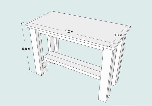 Стол для раковины и слив на дачу своими руками