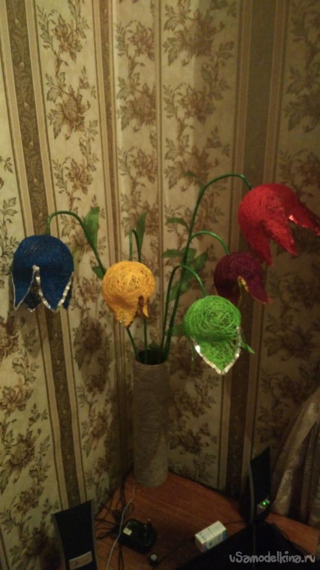 Светильник ночник светодиодный (Самодельный ночник цветы)