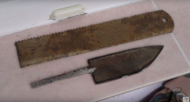 Нож из полотна от мех.пилы своими руками