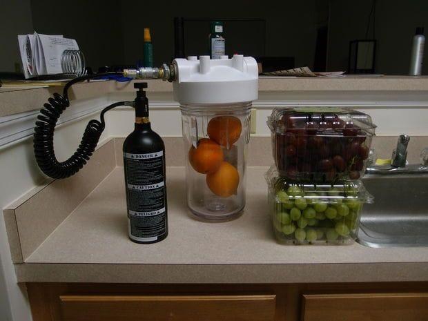 Газирование фруктов