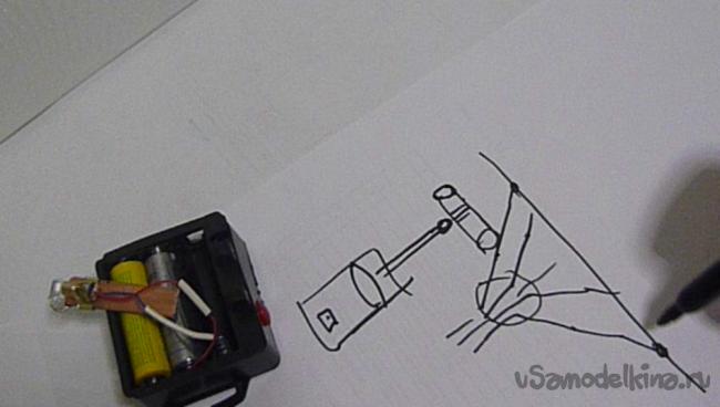 Как получить из точечного луча лазера видимую линию
