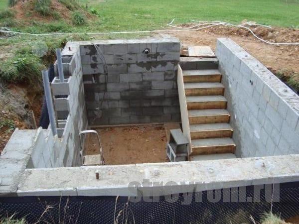 Погреб залить бетоном бетонная смесь м350 купить