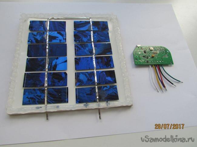 Солнечная панель 6 В на керамической плитке