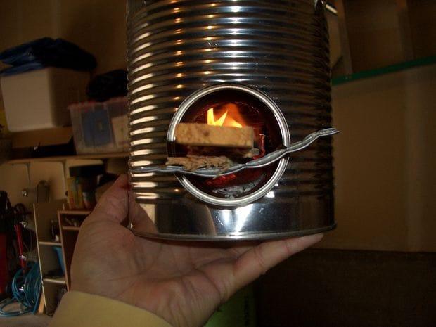 Миниатюрная ракетная печь для туриста