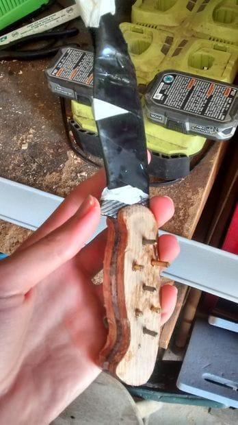 Крепкий нож из рашпиля