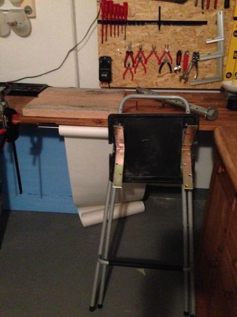 Небольшая складная кузница из стула