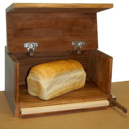 Хлебница с отсеками для ножа и разделочной доски