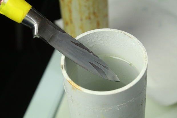 Как выковать нож из цепи