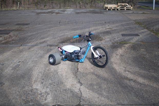 Самодельный трайк из велосипеда и двигателя мопеда