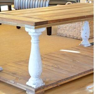 Как сделать деревенский стол с фигурными ножками