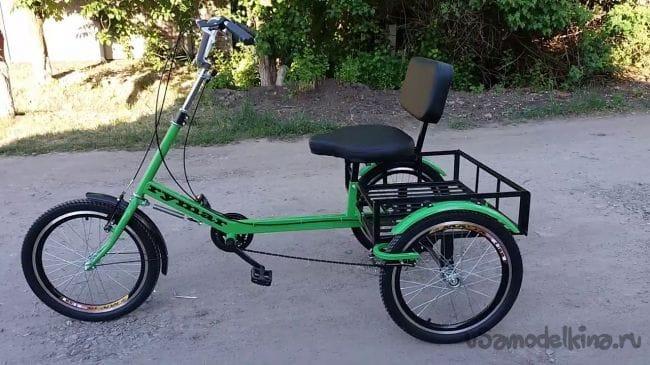 Трехколесный грузовой велосипед для взрослых, инвалидов, дцп, велокофейня