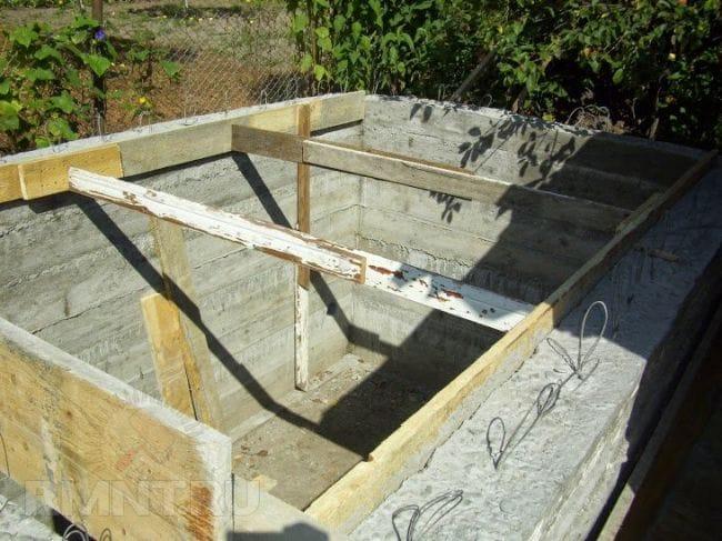 Изготовление подвала из бетона своими руками 3
