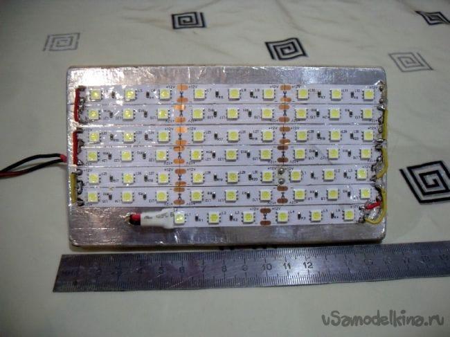 Уличный фонарь из светодиодной ленты своими руками 43