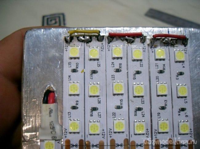 Походный фонарь из светодиодной ленты своими руками