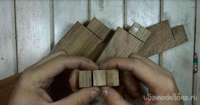 Деревянный корпус для флешки из трех пород дерева
