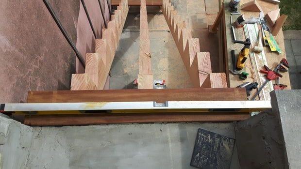 Лестница наружные своими руками 80