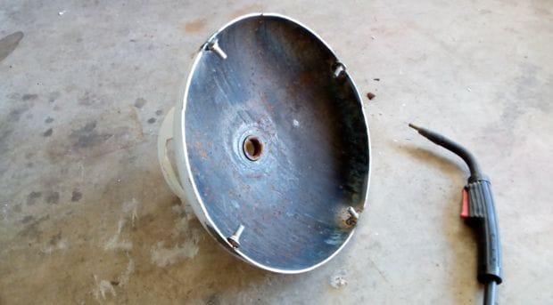 Печь из газового баллона для плавки алюминия