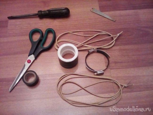 Простая рогатка для стрел (карманный лук)