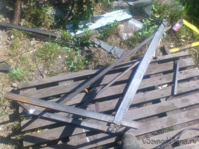 Доработка приставной алюминиевой лестницы