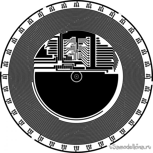 Светодиодная игрушечная рулетка
