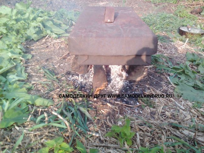 Коптильня горячего копчения из тонкого металла