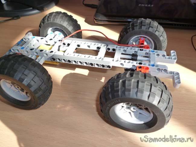 Карьерный погрузчик из Lego Technic и Arduino