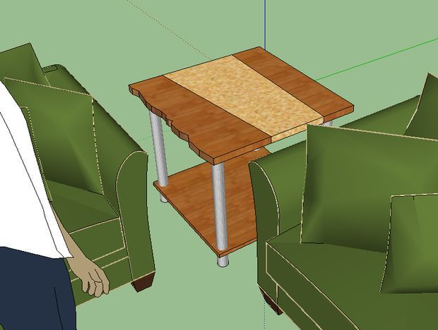 Стол из натуральной древесины