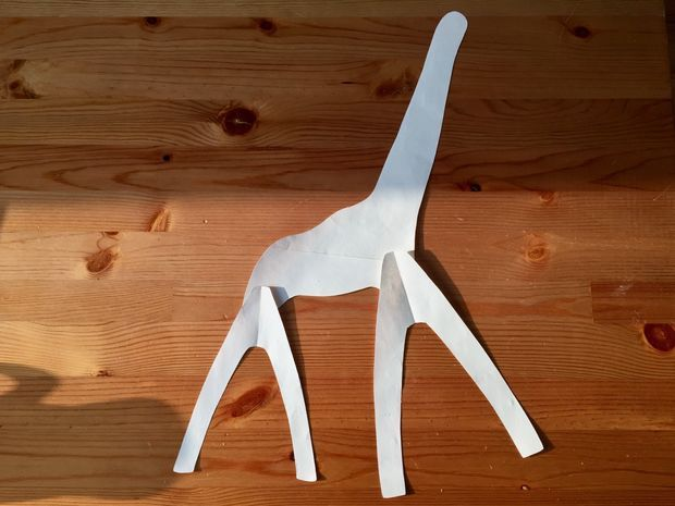 Настольная лампа жираф
