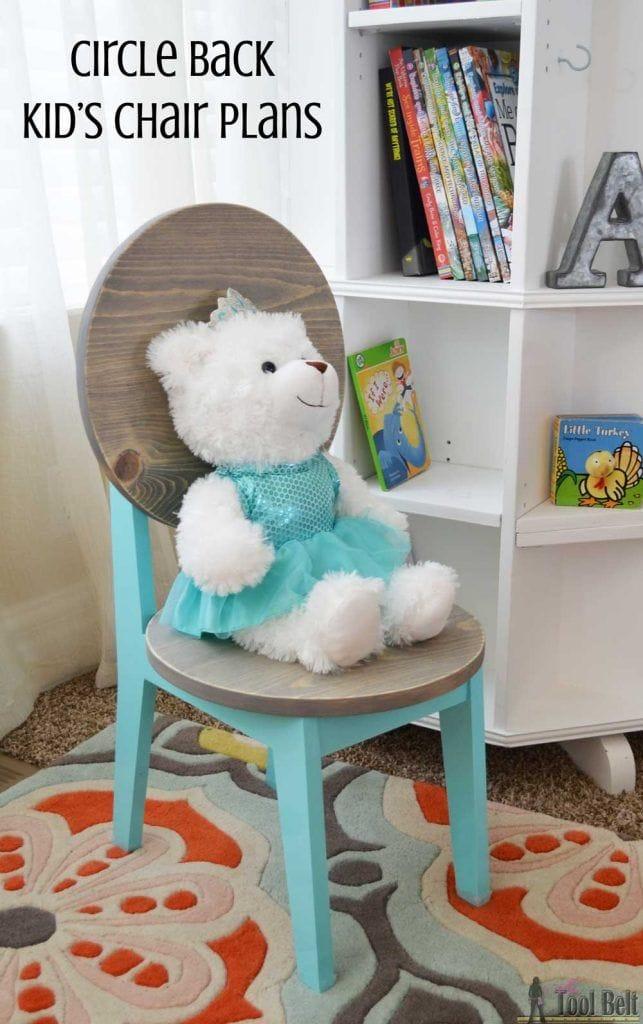 Как сделать деревянный детский стул