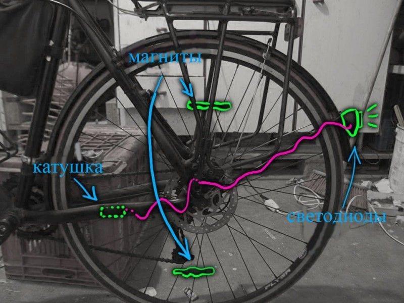 Как сделать свет на велосипед своими руками 40
