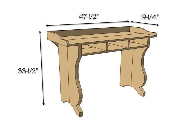 Изящный письменный стол