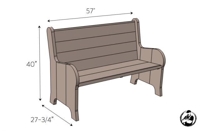 Оригинальная и универсальная скамья