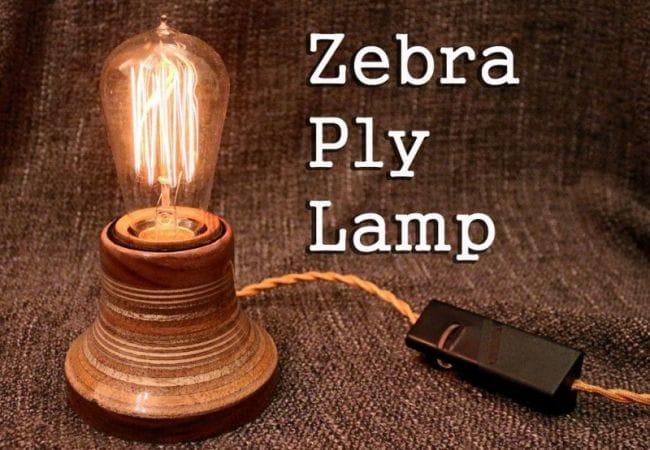 Дешевый и простой светильник «Зебра» своими руками