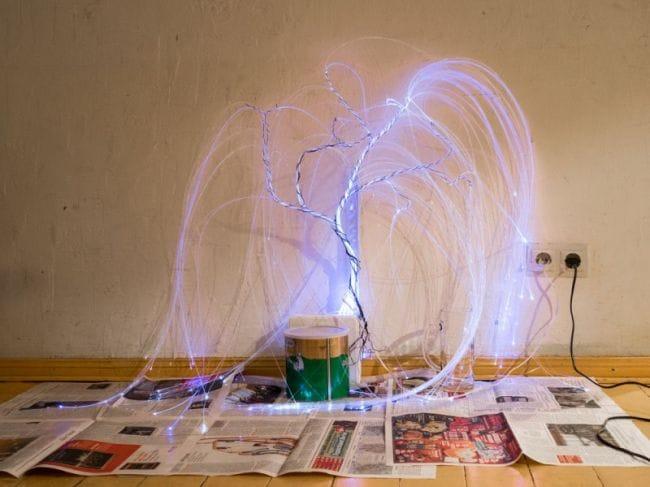 Соберем светильник «Плакучая ива» из оптоволокна