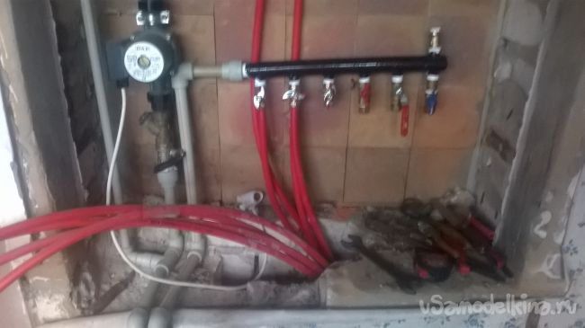 Монтаж теплого пола и его подключение (запуск системы)