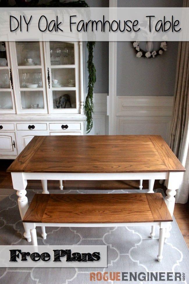 Элегантный дубовый стол