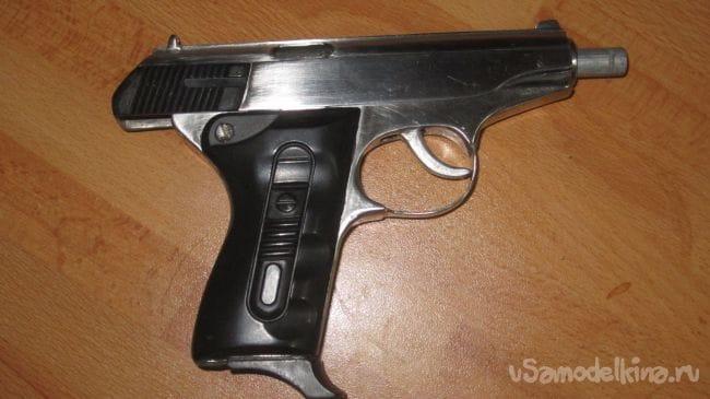 Пистолет зажигалка из нержавейки
