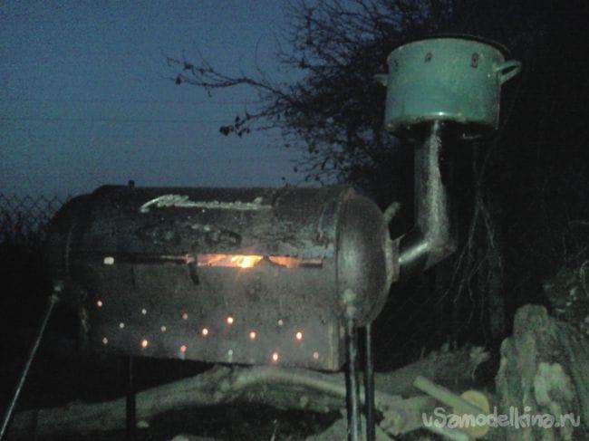 Мангал из газового баллона №1