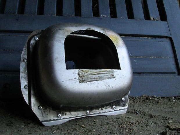 Походная печь из раковины для приготовления пиццы