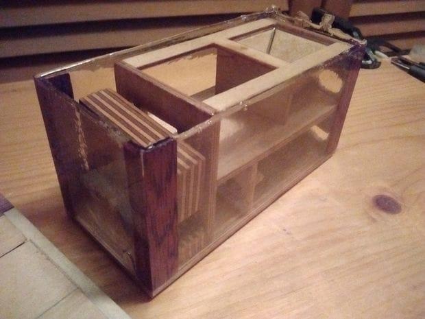 Как сделать прозрачный ящик из эпоксидного клея