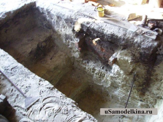 Смотровая яма из бетона