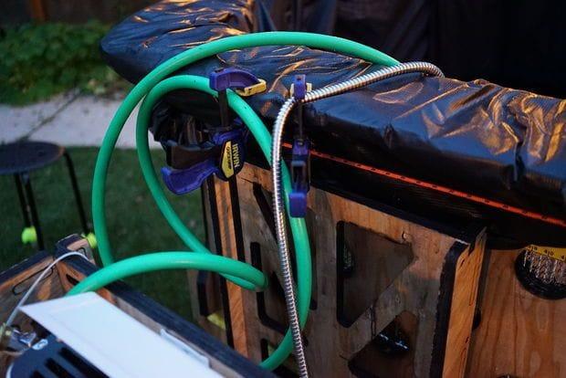 Мобильный бассейн с автономным подогревом и подачей воды
