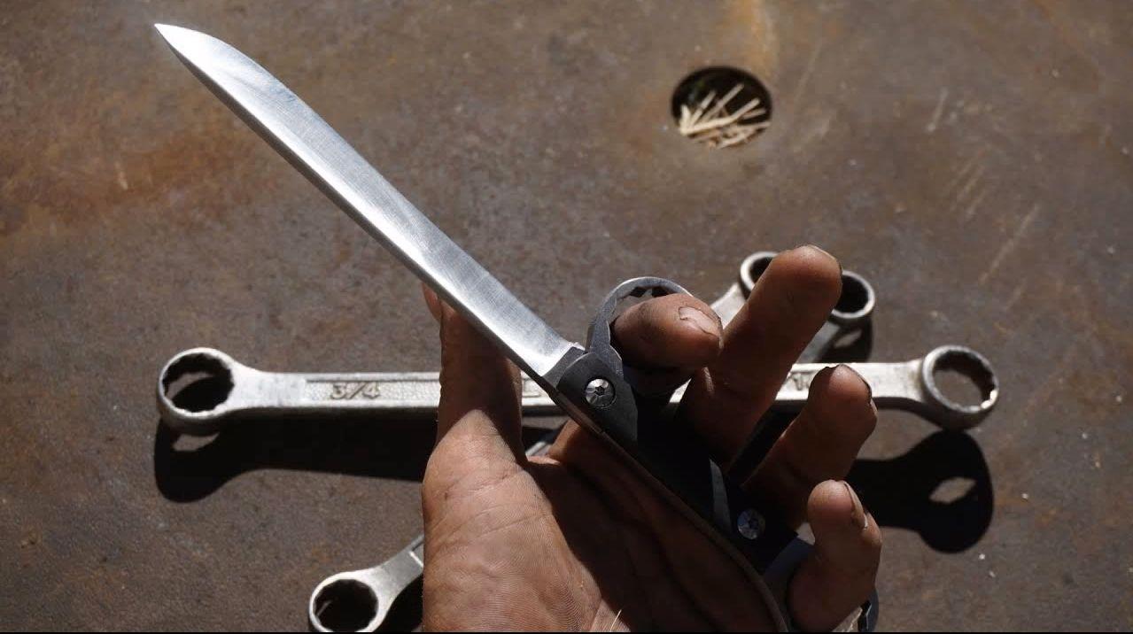 Ножи из гаечных ключей своими руками 8