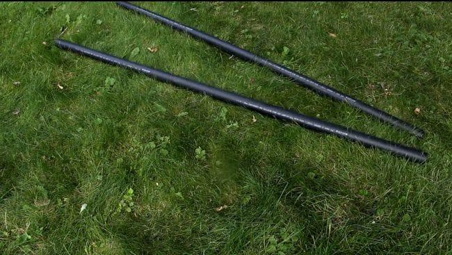 Самокат из пластиковых труб с электроприводом от шуруповерта