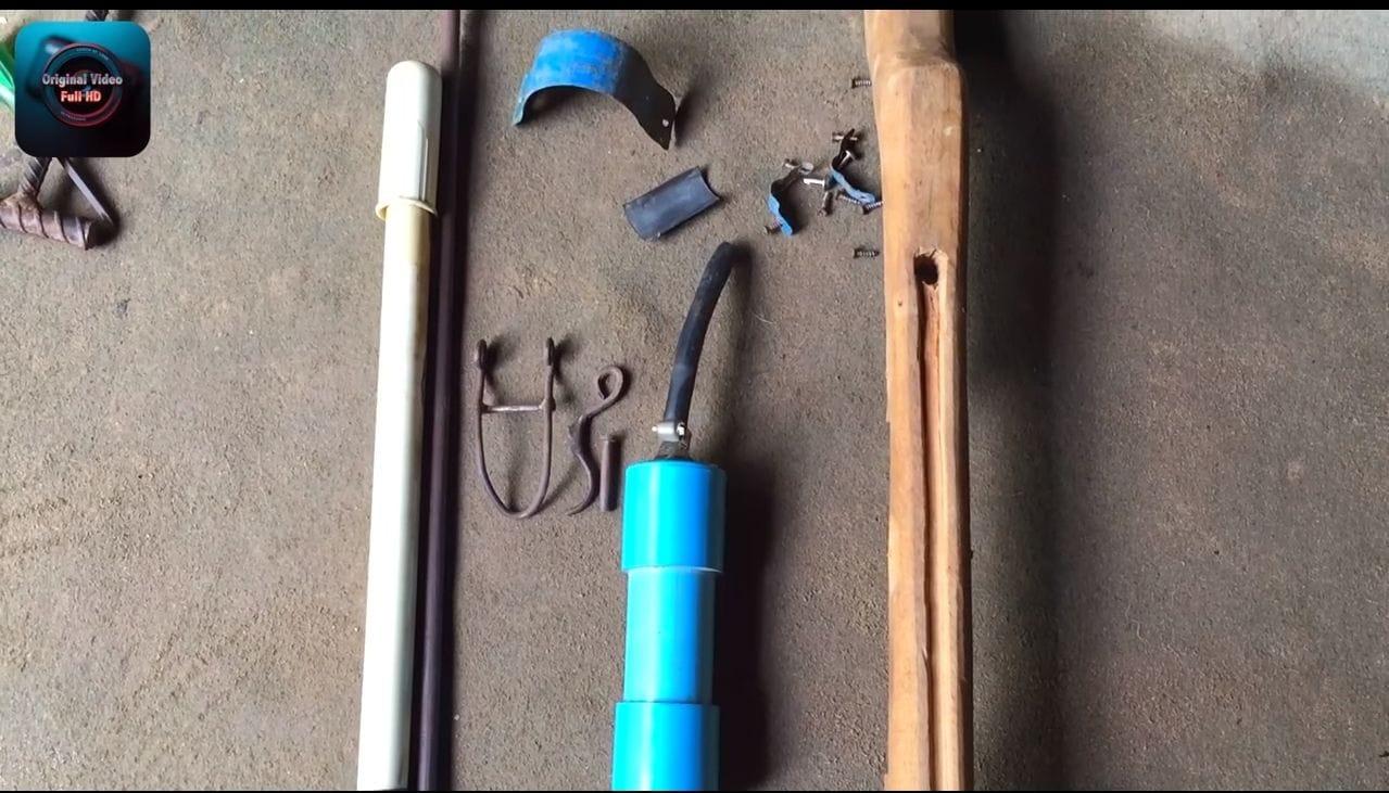 Пневматическое помповое ружье на основе велосипедного насоса